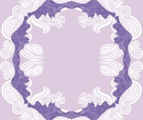 Floral tiling pattern vintage vector set 07