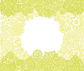 Floral tiling pattern vintage vector set 08