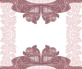 Floral tiling pattern vintage vector set 12