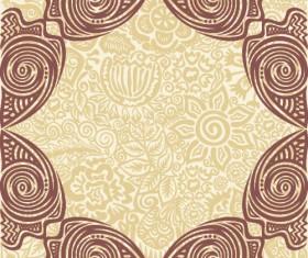 Floral tiling pattern vintage vector set 13