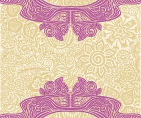 Floral tiling pattern vintage vector set 14