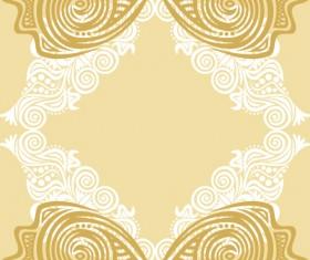 Floral tiling pattern vintage vector set 17