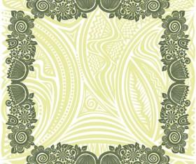 Floral tiling pattern vintage vector set 18