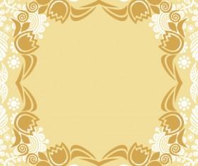Floral tiling pattern vintage vector set 19