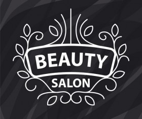 Floral with beauty salon logos vector material 01