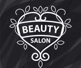 Floral with beauty salon logos vector material 02