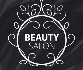 Floral with beauty salon logos vector material 03