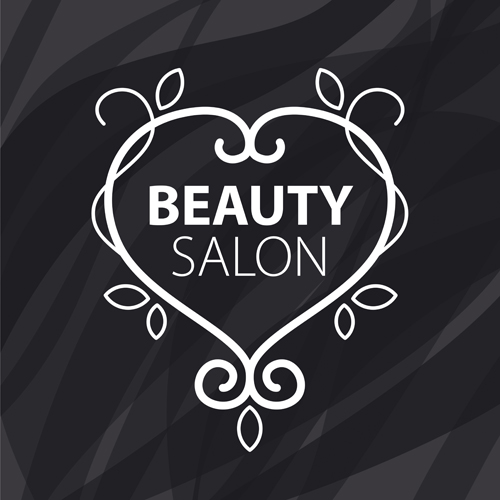 Floral With Beauty Salon Logos Vector Material 04