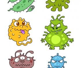 Funny cartoon bacteria and virus vector 05