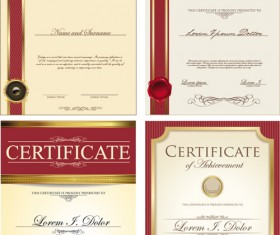 Certificate template vector for free download gold border certificate template vector material 03 yadclub Images