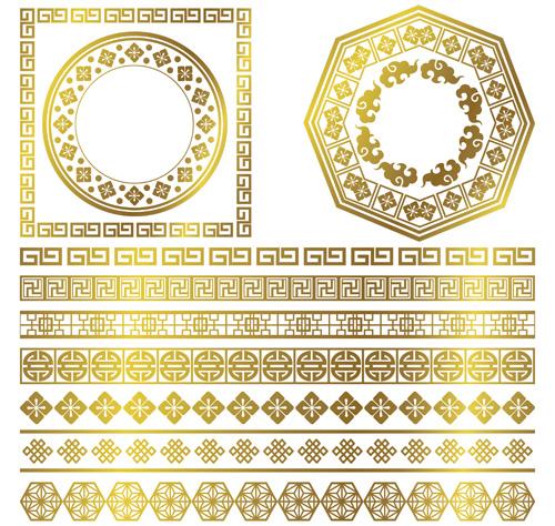 gold frame border vector.  Gold Golden Frame With Ornaments Border Vector Intended Gold Frame Border Vector V