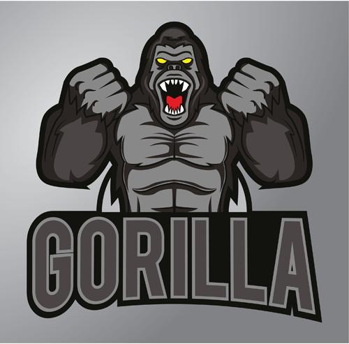 Gorilla logo design vector material 01