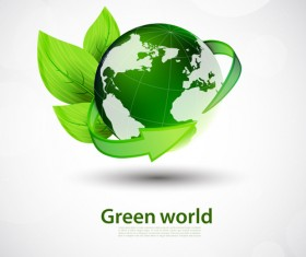 Green world and Eco background vector 01