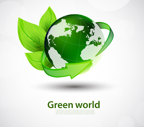 Green World And Eco Background Vector 01 Free Download