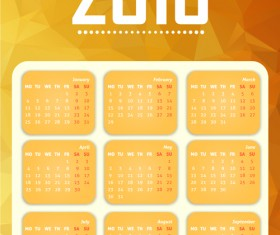 Grid Calendar 2016 modern vector 04