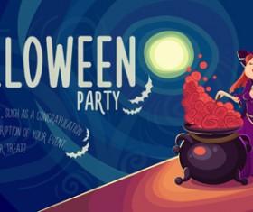 Halloween party poster design creative vector 01