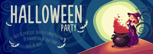 Halloween party poster design creative vector 02