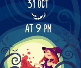 Halloween party poster design creative vector 03
