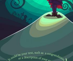 Halloween party poster design creative vector 04