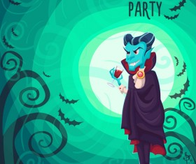 Halloween party poster design creative vector 05