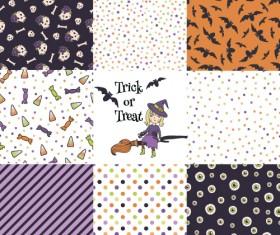 Halloween pattern vector seamless material 01