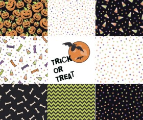 Halloween pattern vector seamless material 03