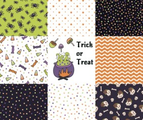 Halloween pattern vector seamless material 05