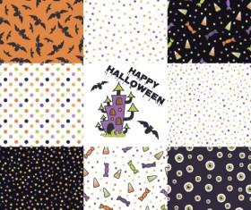 Halloween pattern vector seamless material 06