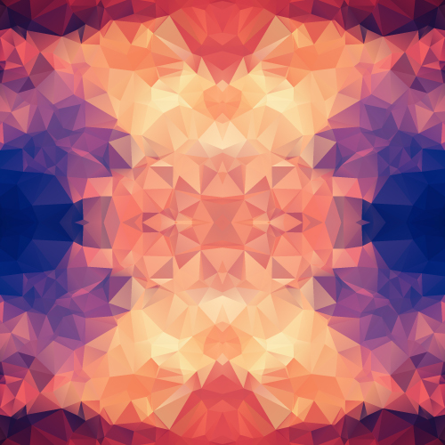 Kaleidoscope geometric shapes background vector material 02