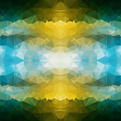 Kaleidoscope geometric shapes background vector material 04