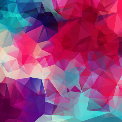 Kaleidoscope geometric shapes background vector material 05