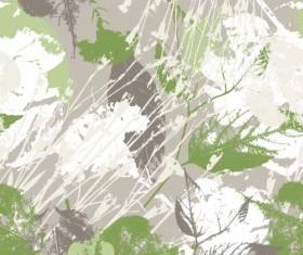 Leaves grunge pattern seamless vectors 04