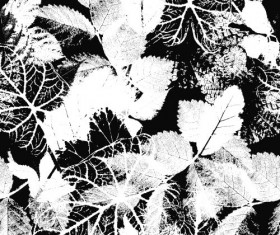 Leaves grunge pattern seamless vectors 05
