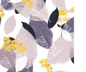 Leaves grunge pattern seamless vectors 06