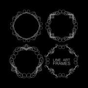 Link toLine art frames design vector 01