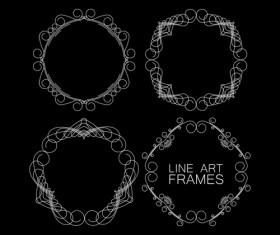 Line art frames design vector 01