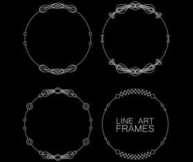 Line art frames design vector 02
