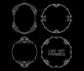 Line art frames design vector 03