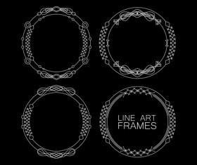 Line art frames design vector 04