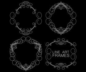Line art frames design vector 05