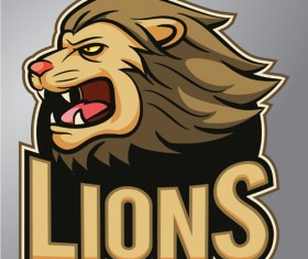 Lions logo vector material