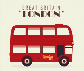 London city bus design vector