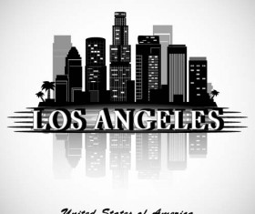 Los Angeles city background vector