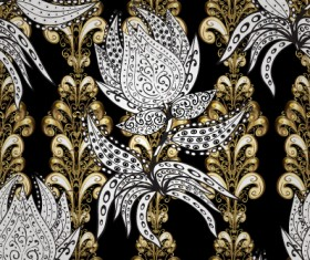 Luxury ornament floral pattern seamless vecrtor 06