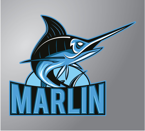marlin logo design vector vector animal vector logo