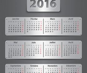 Metal Calendar 2016 creative vector