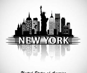 New York city background vector
