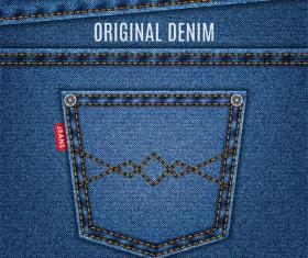 Original denim blue texture background vector 02