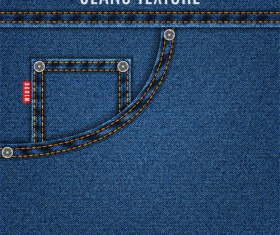 Original denim blue texture background vector 03