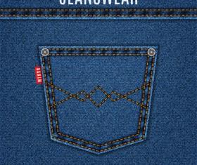 Original denim blue texture background vector 04